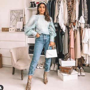 Zara sheer top bloggers favorite